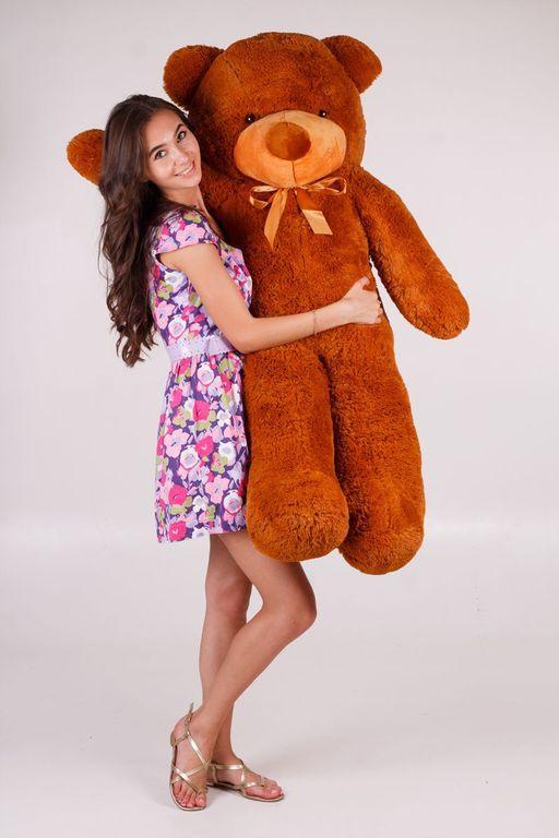 Большой плюшевый медведь Нестор  коричневый (140 см)