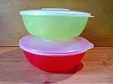 """Салатник з кришкою пластиковий """"Ромашка"""" 15.5 см, 600 мл, фото 2"""