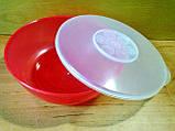 """Салатник з кришкою пластиковий """"Ромашка"""" 15.5 см, 600 мл, фото 3"""