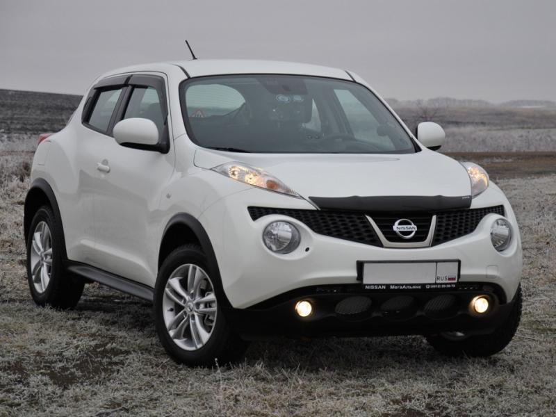 Дефлекторы окон (ветровики)  Nissan JUKE с 2010 -> 5D 4шт (Hic)