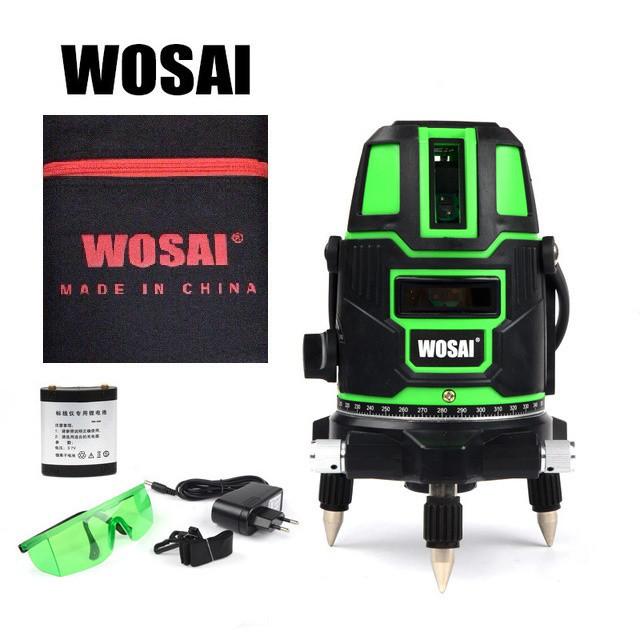 WOSAI 5 линий 6 точек ✅ ЗЕЛЕНЫЙ ЛУЧ ✅ лазерный уровень нивелир WS-X5 ➕ ПОЛНАЯ КОМПЛЕКТАЦИЯ