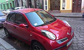 Дефлекторы окон (ветровики) Nissan Micra (K13) 2010 -> 4шт (HIC)