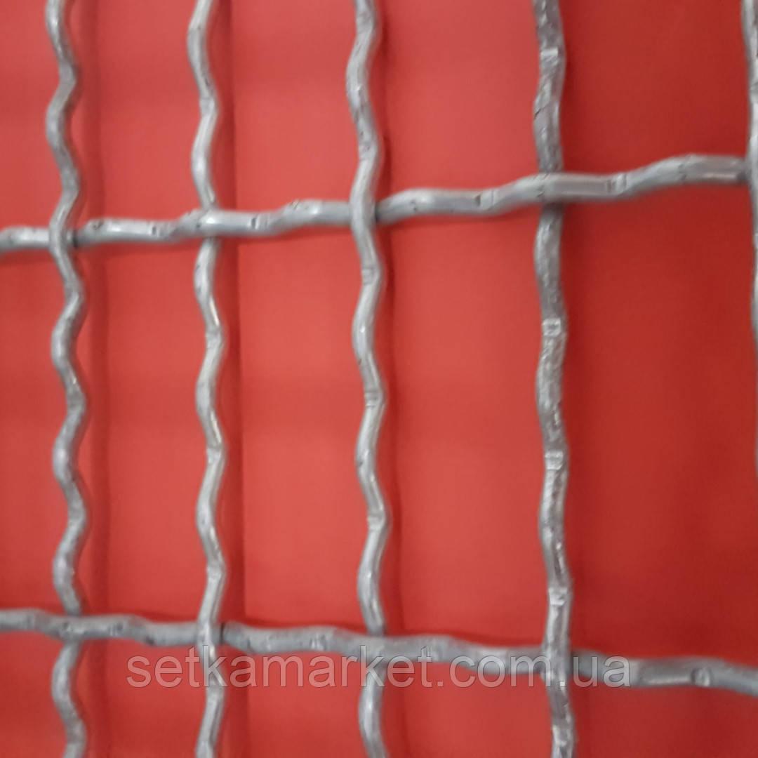 Сетка Канилированная, Ячейка 25х40 мм, Проволока 3,6 мм. Оцинкованная