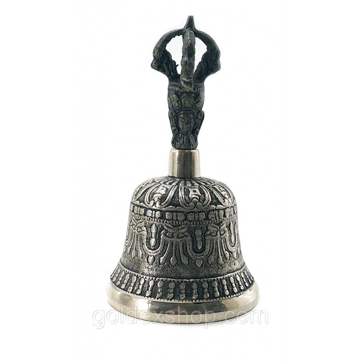 Колокол чакровый бронзовый (№1) (d-7,h-13,5 см)