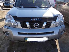 Дефлектор капота (мухобойка) Nissan X  -TRAIL 2007-> (HIC)