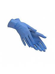 Перчатки нитриловые неопудренные СИНИЕ, Размер S (1 пара)