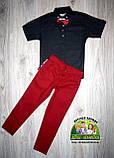 Нарядный костюм для мальчика: рубашка с коротким рукавом, брюки и бабочка, фото 2