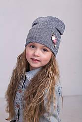 Модная шапочка для девочек подкладка х/б р46-50. 5 шт в упаковке.