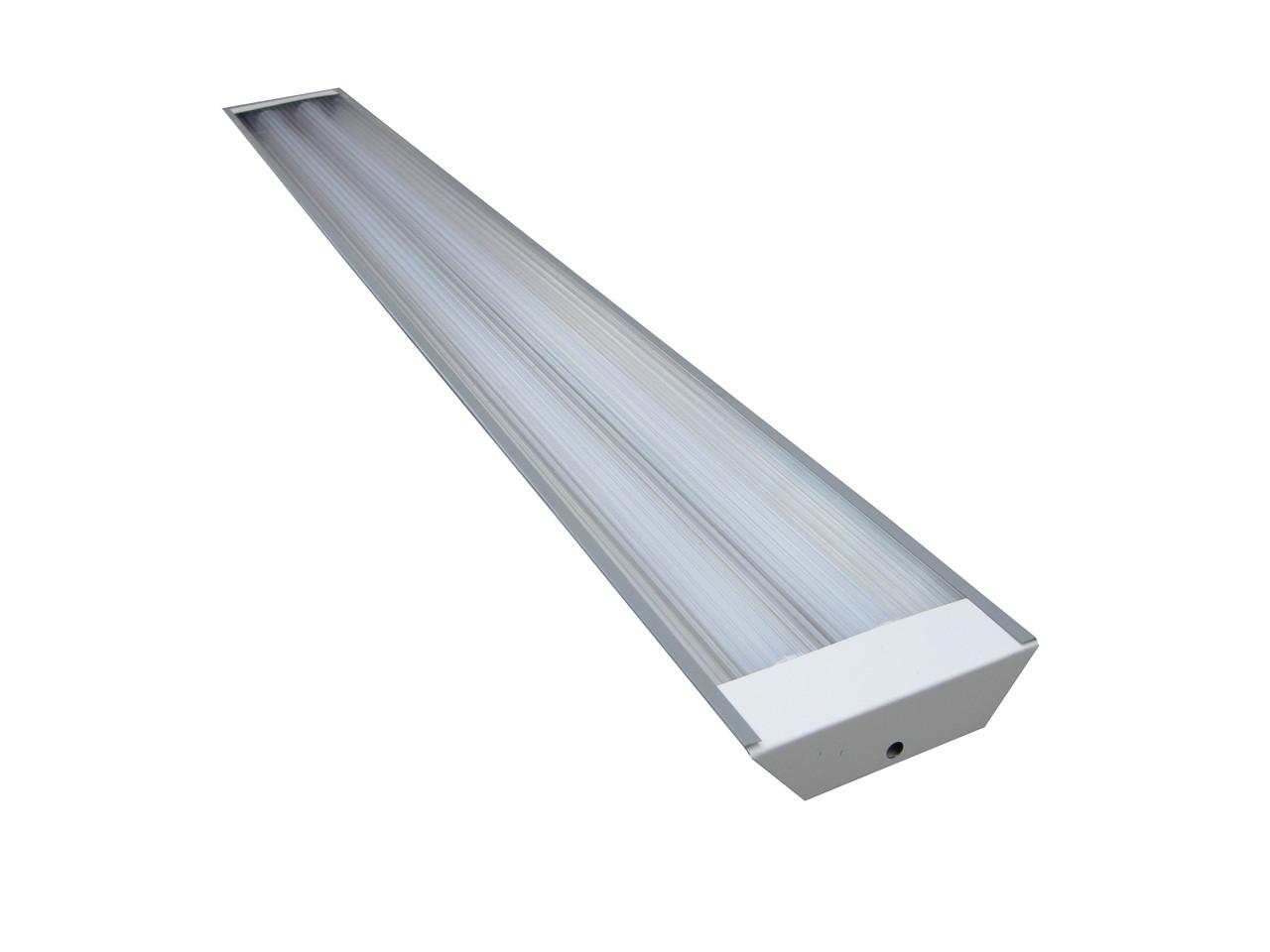 СТ-02 (2х1200) линейный светильник с рассеивателем под LED (ЛЕД) лампы Т8 1200 без ПРА