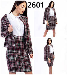 Женский деловой костюм двойка пиджак+юбка, С,М,Л