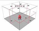 WOSAI 5 линий 6 точек 4H1V ❌ КРАСНЫЙ ЛУЧ ➜ до 50м 🔴 лазерный уровень нивелир WS-A5 ПОЛНАЯ КОМПЛЕКТАЦИЯ, фото 4