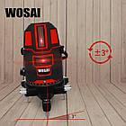 WOSAI 5 линий 6 точек 4H1V ❌ КРАСНЫЙ ЛУЧ ➜ до 50м 🔴 лазерный уровень нивелир WS-A5 ПОЛНАЯ КОМПЛЕКТАЦИЯ, фото 2