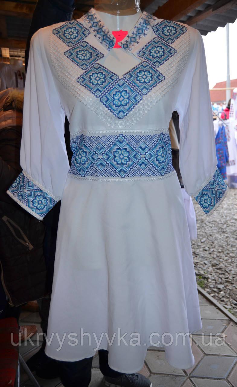 """Вишите плаття  """"Гармонія"""" голубе"""