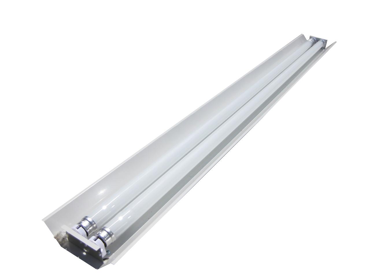 СПВ-02 (2х1200 компакт) открытый линейный светильник под LED (ЛЕД) лампы Т8 1200 без ПРА