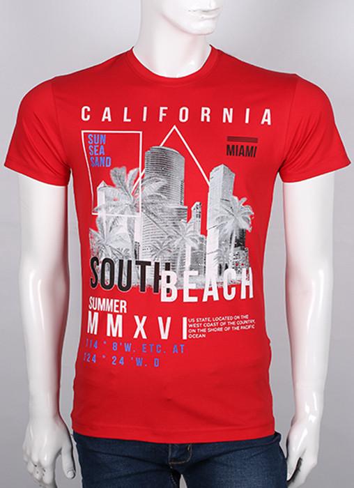 """Молодежная футболка Валимарк, красный,  """"California 19065"""""""
