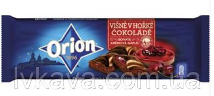 Черный шоколад Orion с вишней, 240 гр
