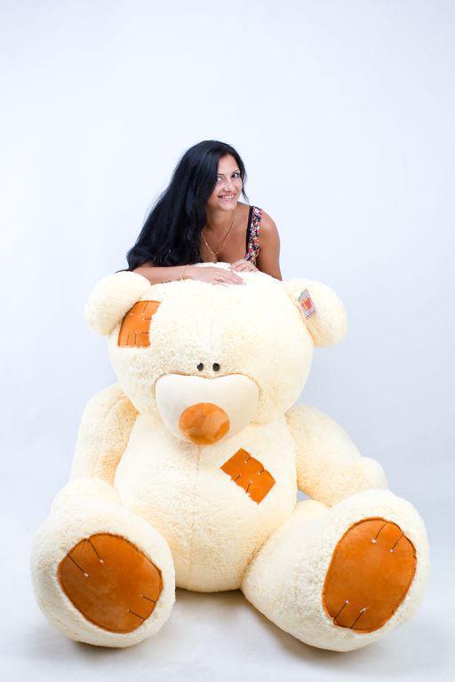 Большой плюшевый медведь Гриша кремовый (250 см)