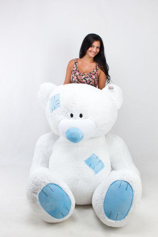 Большой плюшевый медведь Гриша белый (250 см)