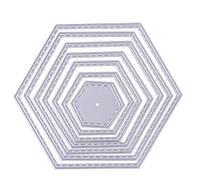 """Ножи для вырубки набор из 7 шт рамка фигура """"Шестиугольник"""" для фоамирана, бумаги, фетра для скрапбукинга"""