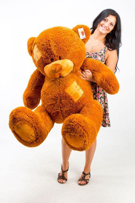 Большой плюшевый медведь Гриша  коричневый (150 см)
