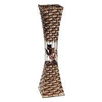 Напольная плетеная ваза из роганта квадрат