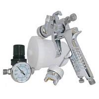 Набор покрасочный пневматический H-827 с регулятором воздуха HVLP 1,4 и 1,7мм KIT-H-827-1.4-1.7 AUARITA