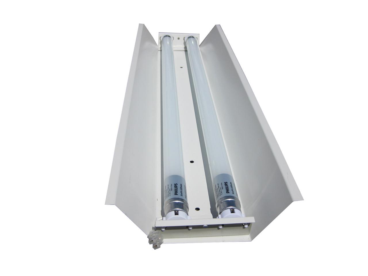 СПВ-02 (2х1200) открытый линейный светильник под LED (ЛЕД) лампы Т8 1200 без ПРА