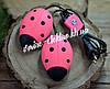 Сушилка для обуви Солнышко светло розовая с черными точками
