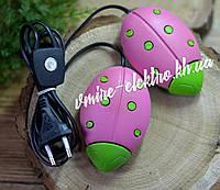 Сушилка для обуви Солнышко розовая с салатовыми точками