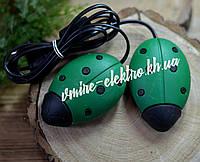 Сушилка для обуви Солнышко зеленая с черными точками