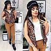 Женская жилетка с капюшоном (мод. 065)