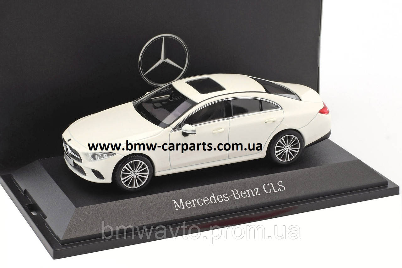 Модель автомобиля Mercedes CLS, Designo Diamond White Bright, Scale 1:43, фото 2