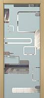 """Дверь стеклянная межкомнатная модель""""Figura"""""""