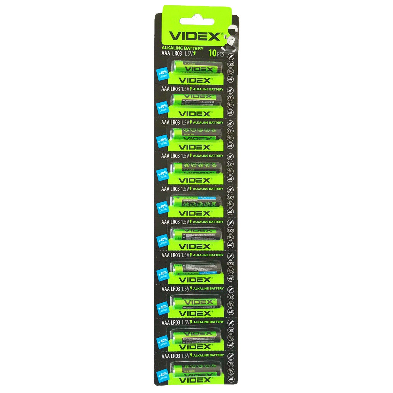 Батарейка VIDEX LR3 (ААА)алкалин BLI 1/10 (отрывной)