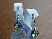 Хіт!!!Шикарні срібні сережки з каменями Swarovski, кристали Сваровскі, фото 1