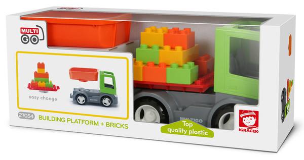 Вантажівка з платформою і кубиками MultiGo 2 в 1