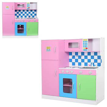 Дерев'яна іграшка Кухня MD 1208 дитяча з краном, холодильником Гарантія якості Швидкість доставки