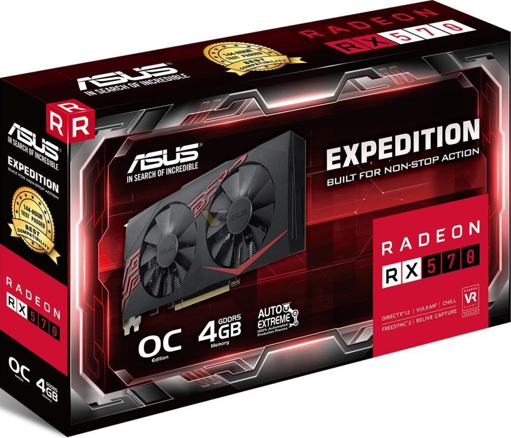 Видеокарта Asus Radeon RX 570 Expedition (EX-RX570-O4G)