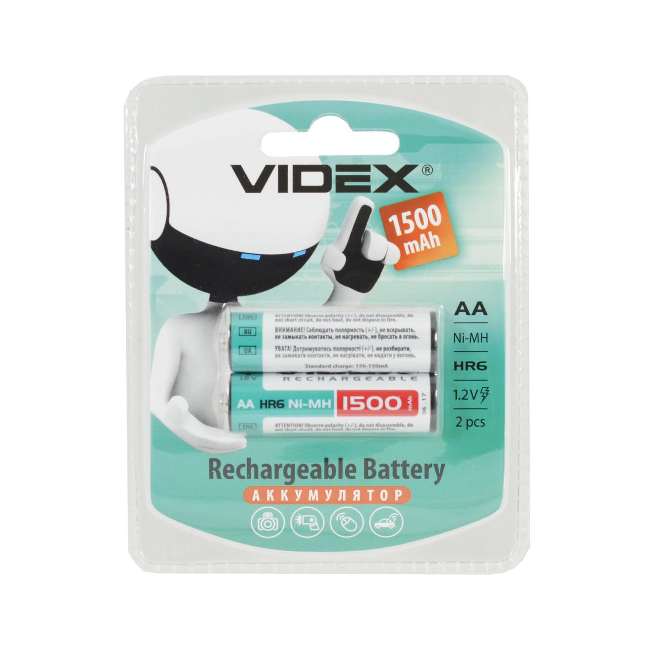 Аккумулятор VIDEX R06 1500mAh (предзаряд) BLI 2