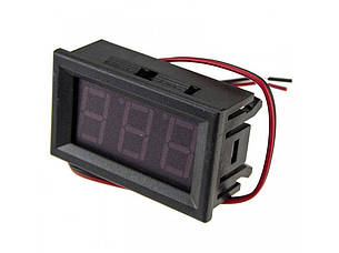 Вольтметр цифровой 4,5-30V встраиваемый (два провода) КРАСНЫЙ