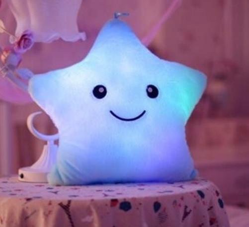 Подушка Звездочка с подсветкой, Мягкая игрушка светящаяся звезда!