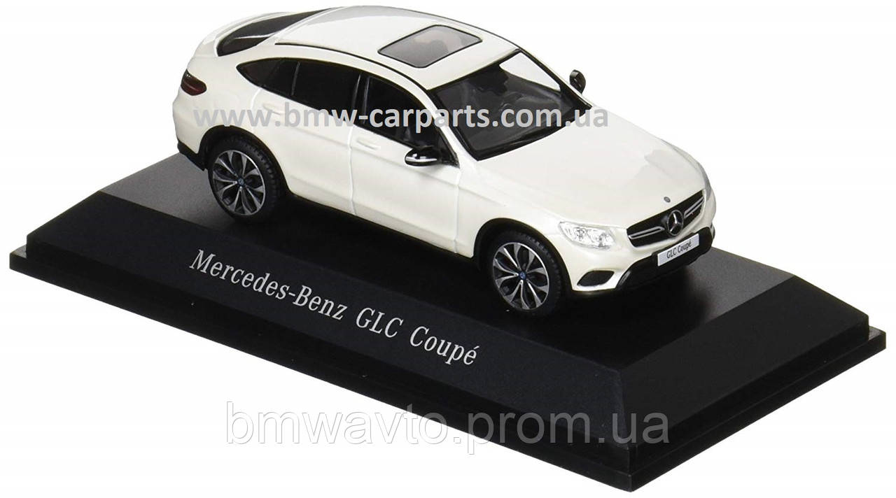 Модель автомобиля Mercedes GLC Coupé, Diamond White Bright, Scale 1:43