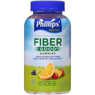 Bayer Phillips' Daily Care Fiber Good  желейки с клетчаткой и инулином для борьбы с запорами 90 шт