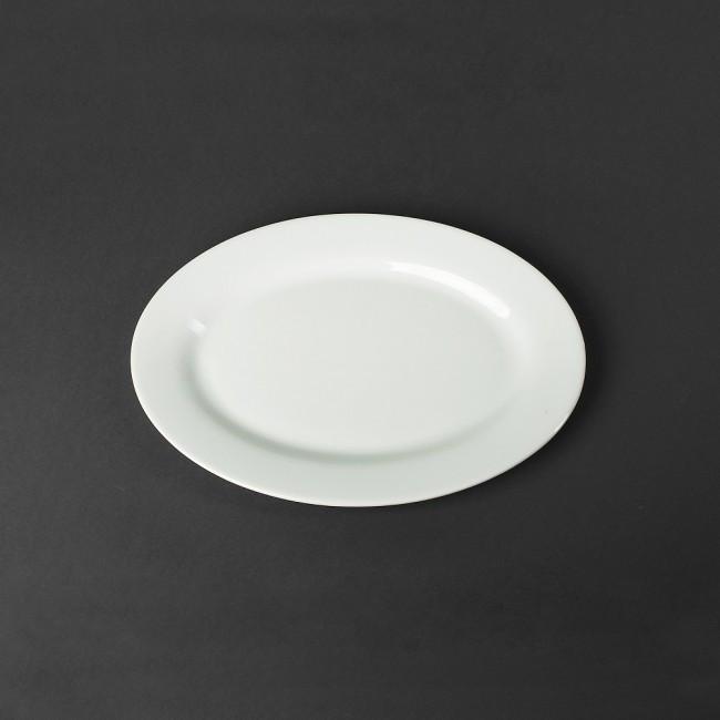 Тарелка плоская овальная HLS 300 мл (HR1197)