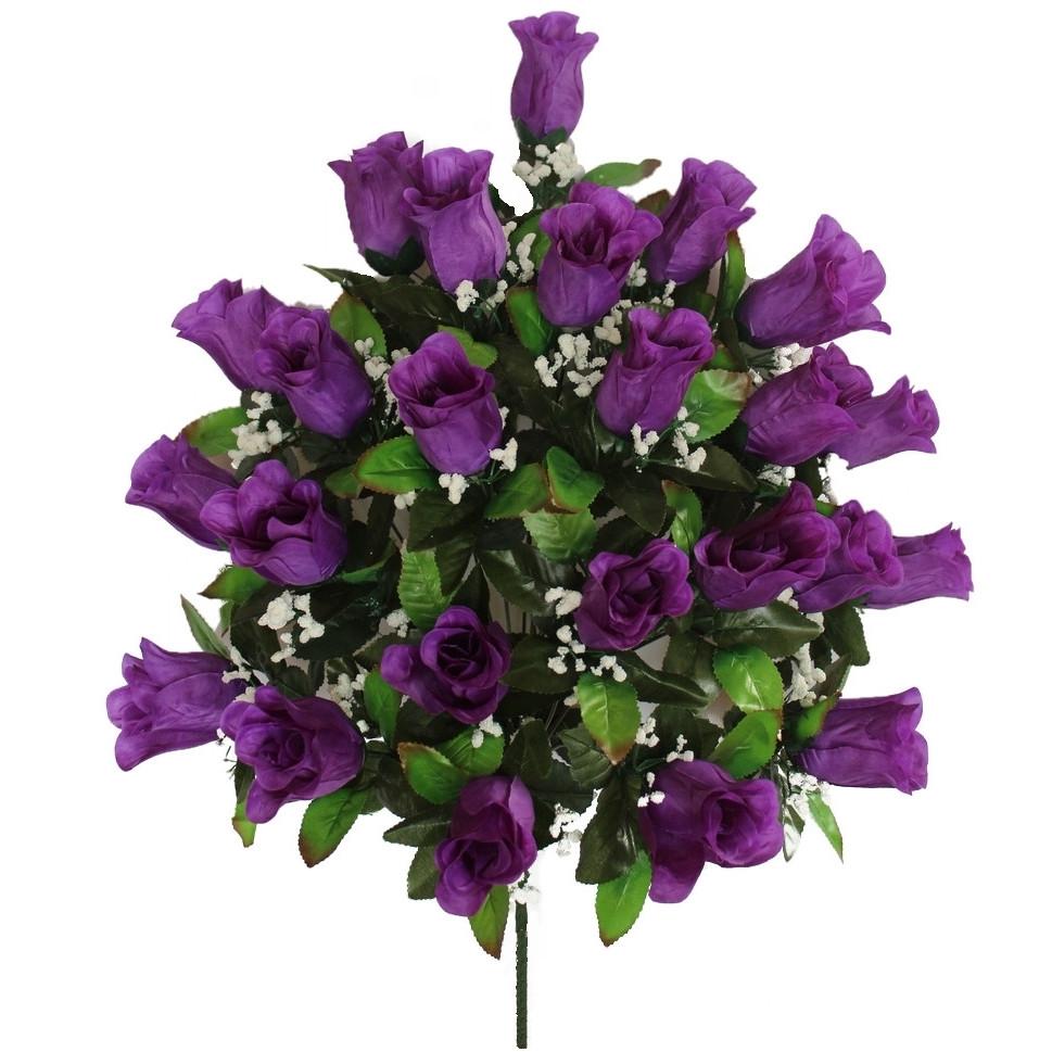 Искусственная роза бутон 24 головы 60 см
