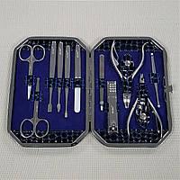 """Маникюрный набор """"Florans Manicure"""" 11 инструментов """"Sapphire Blue"""""""