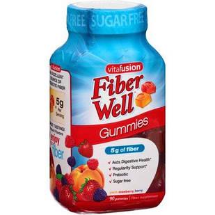 Vitafusion fiber well Желейные жевательные конфеты с клетчаткой для борьбы с запорами 90 шт