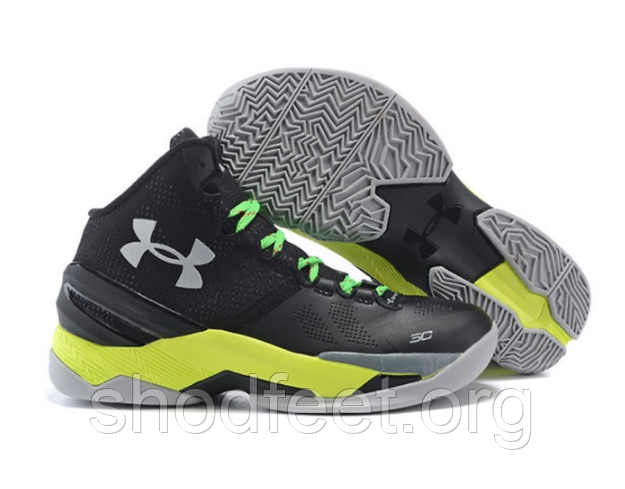 Кроссовки Under Armour Authentic Stephen Curry 2 Black Green Yellow