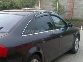 Дефлекторы окон (ветровики) Audi 100/A6 4D 1990-1997 (C4) 4шт (Hic)