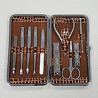 """Маникюрный набор """"MEISMEI Manicure"""" 10 инструментов """"Amber Gold"""""""